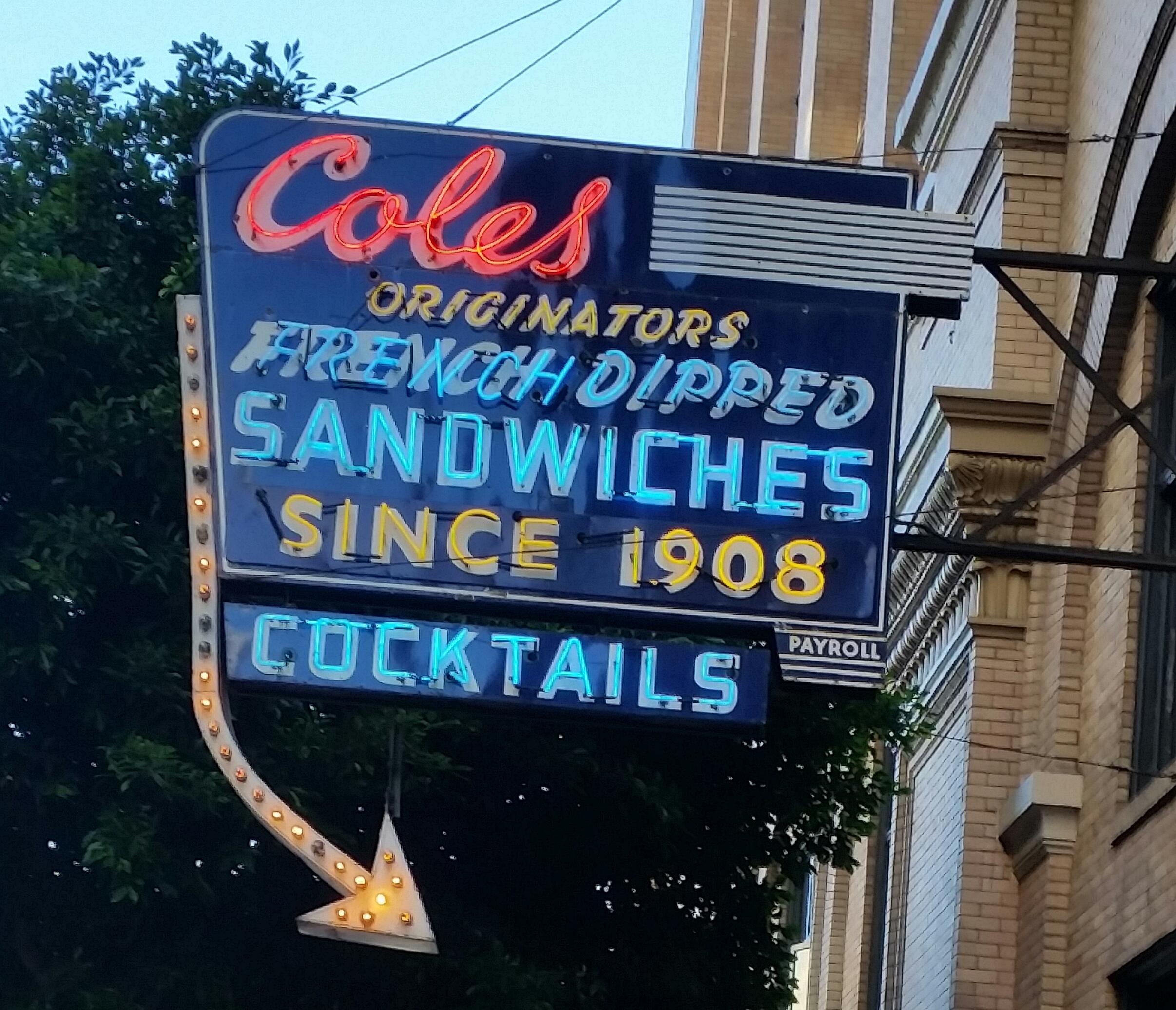 Coles Neon Sign